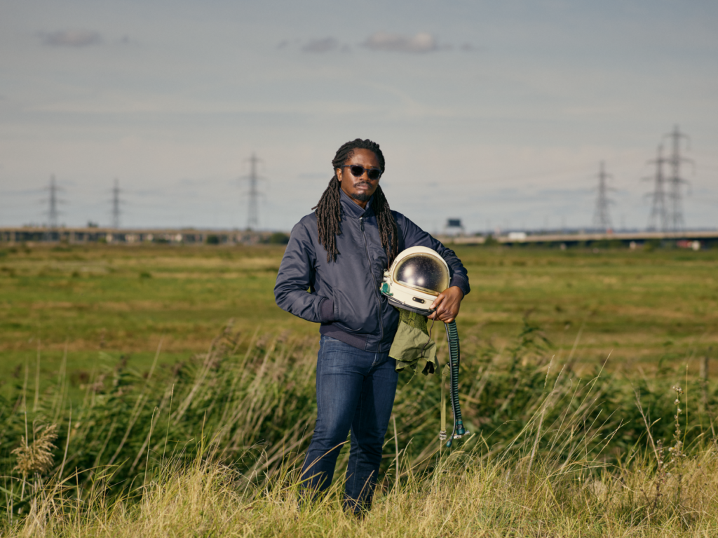 Artist Larry Achiampong, photo by Emile Holb. Image provided courtesy of the artist.